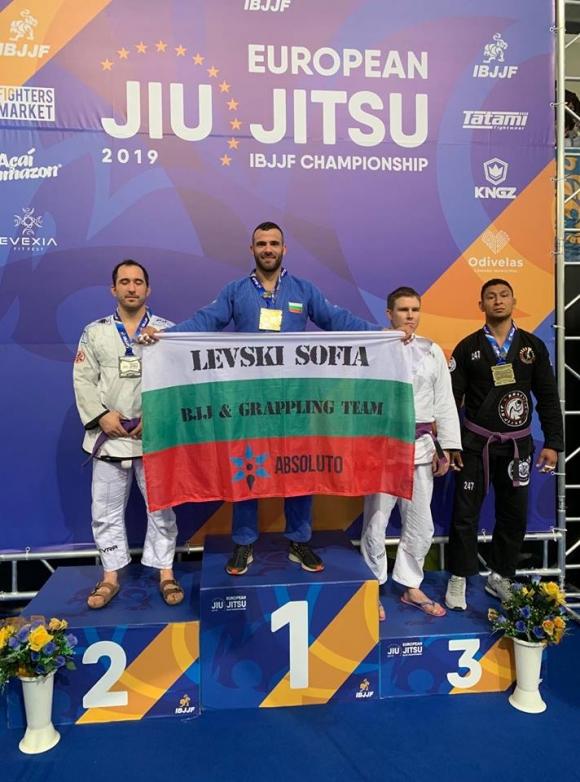 Стилиян Георгиев от ликува с европейската титла по бразилско джу-джицу