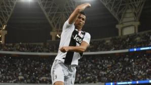 Роналдо щастлив от първия си трофей с Юве