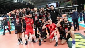 Супер MVP Цецо Соколов с 22 точки, Лубе удари Тренто в супердербито на Италия (видео + снимки)