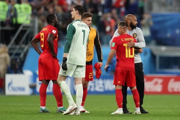 Азар приветства Анри обратно в националния отбор на Белгия