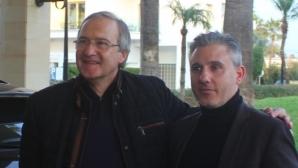 Павел Колев и Дерменджиев на среща с играчите на Левски, треньорът с първа тренировка