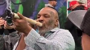 Майк Тайсън захапа гигантска цигара с марихуана (видео)