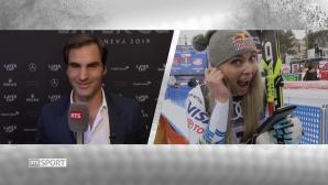 Федерер изненада приятно Линдзи Вон (видео)