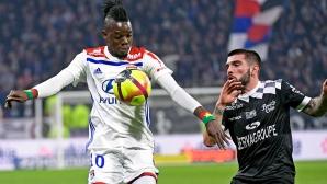 Лион се измъчи с аутсайдера в Лига 1 (видео)