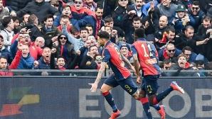 Дженоа шокира Лацио след обрат и страхотен гол в 93-ата минута (видео)