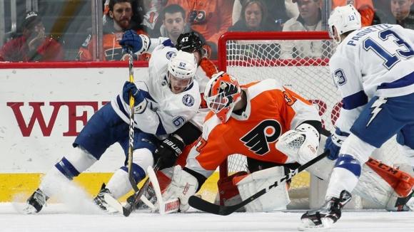Тампа Бей вече има аванс от 17 точки в НХЛ, Александър Георгиев не игра за...