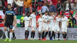 Севиля е първият 1/8-финалист в Лига Европа, след като още веднъж прониза Лацио (видео)
