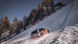 Вижте как Audi e-tron се справи със ски писта с 85% наклон (видео)