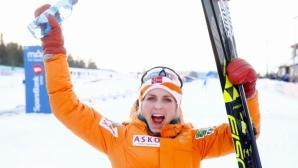 Терезе Йохауг стана шампионка в скиатлона на 15 км на световното (видео)