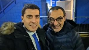 Нашенец подари българско вино на мениджъра на Челси
