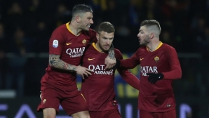 Рома издрапа до победата над Фрозиноне с късна драма (видео)