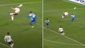 Този футболист отбеляза невероятен гол! (видео)
