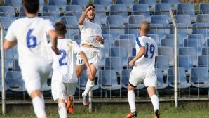Спартак (Плевен) извоюва трудна, но много важна победа в дербито на Трета лига (видео)