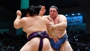 Аоияма постигна шест победа на турнира по сумо в Осака