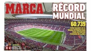 """Женски мач """"засенчи"""" Меси на челните страници в Мадрид"""