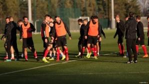 Националите с първа тренировка преди мача с Черна гора
