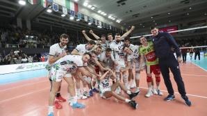 Тренто отнесе Галатасарай в първия финал за Купата на CEV пред погледа на Радо Стойчев (видео + снимки)