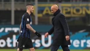 Икарди се поздрави със Спалети, готви се за мача с Лацио