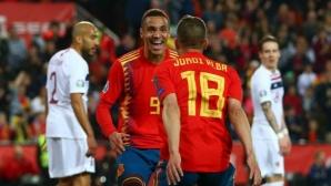 Испания си поигра с огъня, но взе победата срещу Норвегия