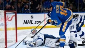 Лидерът Тампа Бей загуби от Сейнт Луис в среща от НХЛ