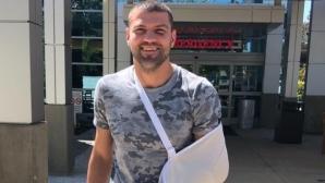 Тервел Пулев със счупена ръка след победата в САЩ