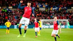 Норвегия и Швеция си поделиха точките след късна скандинавска драма (видео)
