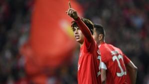 Новото португалско бижу доближи Бенфика до полуфинала (видео)