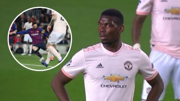 Вижте реакцията на Погба след първия гол на Меси