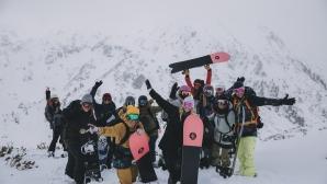 Пирин посрещна със снеговалеж жените лидери на сноуборда