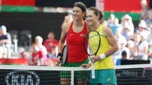 """Мач на двойки ще определи победителя между Австралия и Беларус на """"Фед къп"""""""