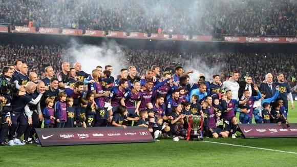 Барселона отново е властелинът на Испания! (видео + галерия)