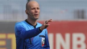 Николай Йорданов ще ръководи двубоя от Първа лига между Черно море и Лудогорец
