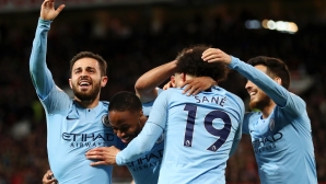 """Манчестър Сити направи голямата крачка към титлата след триумф на """"Олд Трафорд"""" (видео)"""