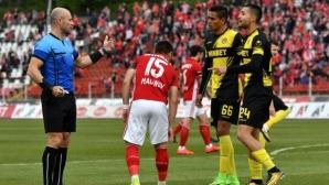 Без наказание за рефера на ЦСКА-София - Ботев Пд, ето какво мислят в СК за картоните и дузпата