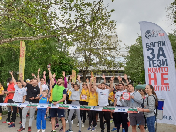 Стотици хора в София и Сливен бягаха на Wings for Life World Run (видео)