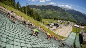Най-стръмното бягане включва 400 метра нагоре по ски шанца