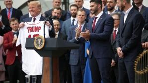 Шампионът Ред Сокс се раздели на бели и цветнокожи за посещението в Белия дом