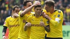 """Борусия (Дортмунд) запази искрата в спора за """"Салатиерата"""" преди последния кръг (видео)"""
