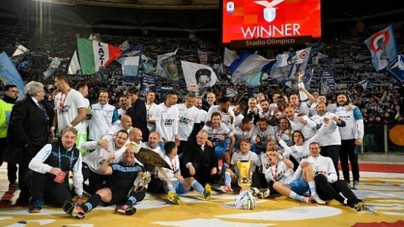 Левски поздрави Лацио за спечелената Купа