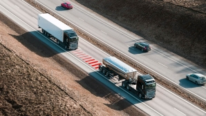 Решение за безопасност от Volvo Trucks помага на водачите да поддържат дистанция