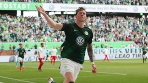 С осем гола Волфсбург влетя в Лига Европа (видео)