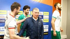 Двама бивши селекционери посетиха тренировка на волейболистите