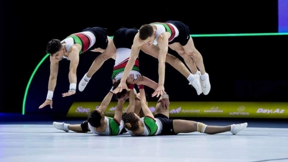 Много силно представяне на националите ни на Европейското по спортна аеробика (видео)