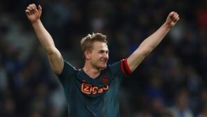 Манчестър Юнайтед изкушава Де Лихт с 12 млн. паунда на година