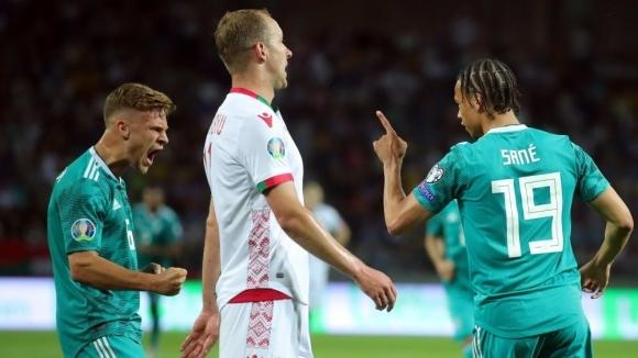 Германия не срещна трудности в Беларус, Нойер прикова погледите като полеви играч (видео)