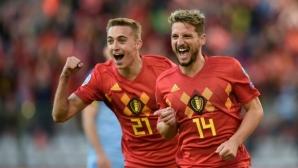 Белгия на Азар продължава безгрешно