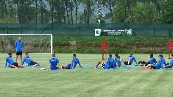 Две тренировки за Левски в третия ден от лагера в Добринище