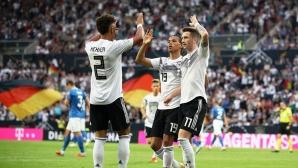 8:0 и пълен актив от точки, но Германия не е лидер в групата си (видео)