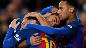 Имах шанса да играя с двамата най-добри, горд е Луис Суарес