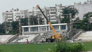 """Поставят днес козирката на стадион """"Спартак"""" във Варна"""